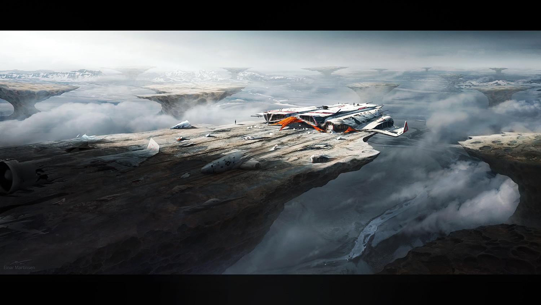 Einar martinsen dc class einarmartinsen 2016 week 05 painting inhospitable planet 01