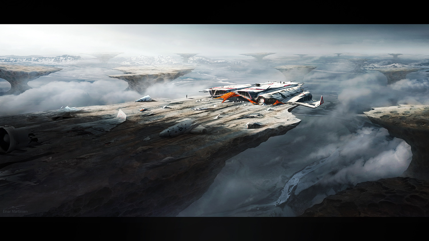 Production design course with Dylan Cole - Artwork by Einar Martinsen - inhospitable planet