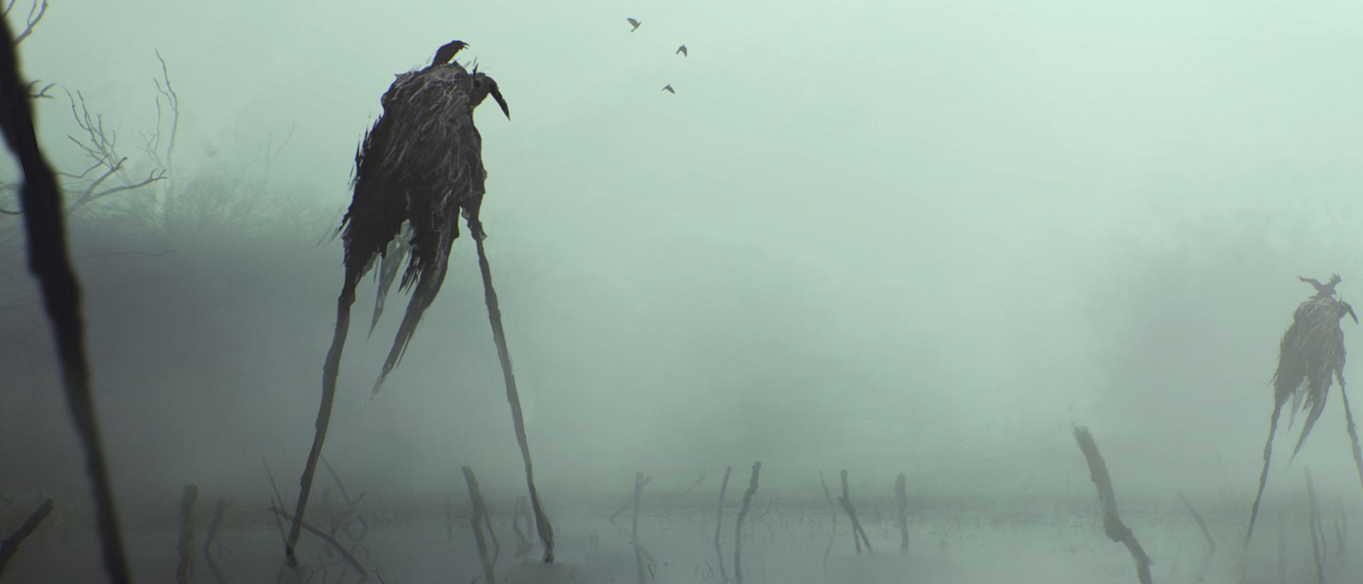 Artstation Crow Swamp Sim Singh