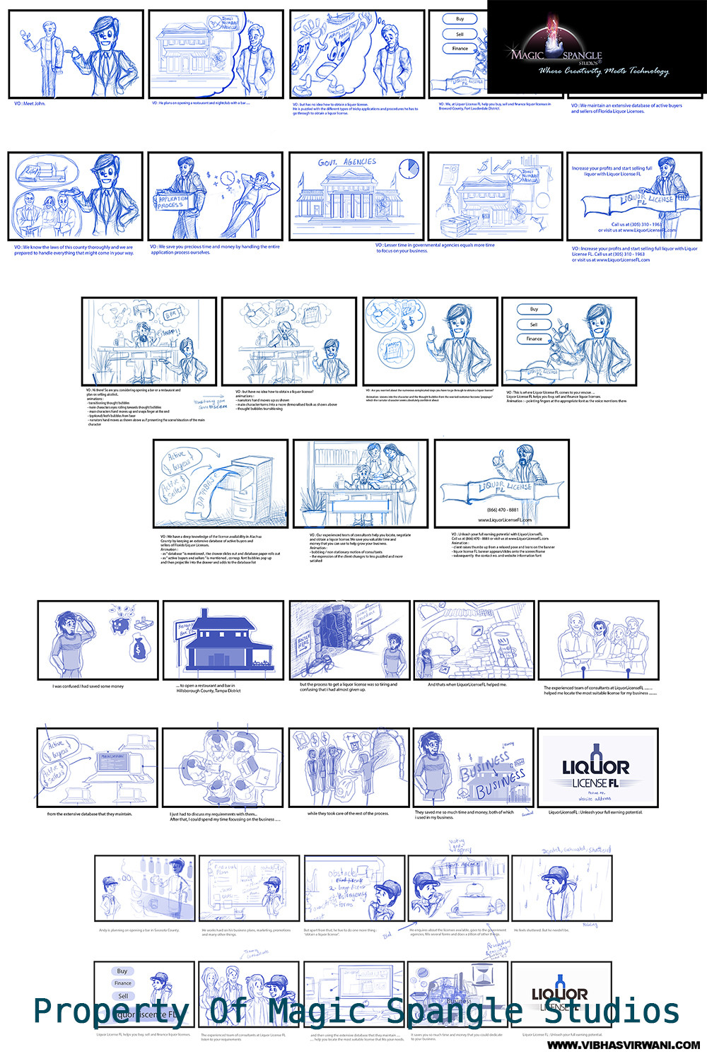 Vibhas virwani blue storyboards