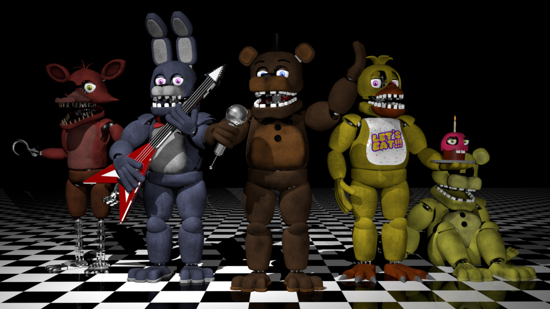 ArtStation - Five Nights at Freddy's 2 Fan-made Withered 3D