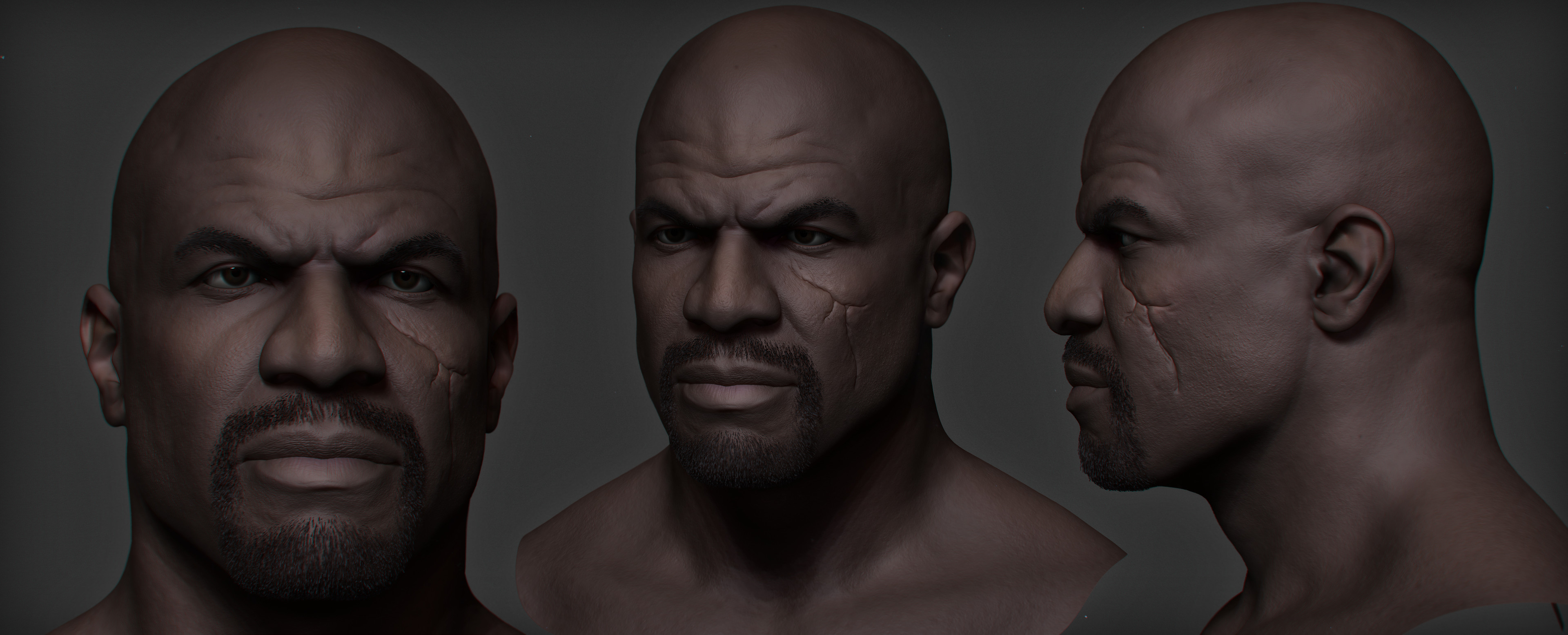 Head sculpt. High poly