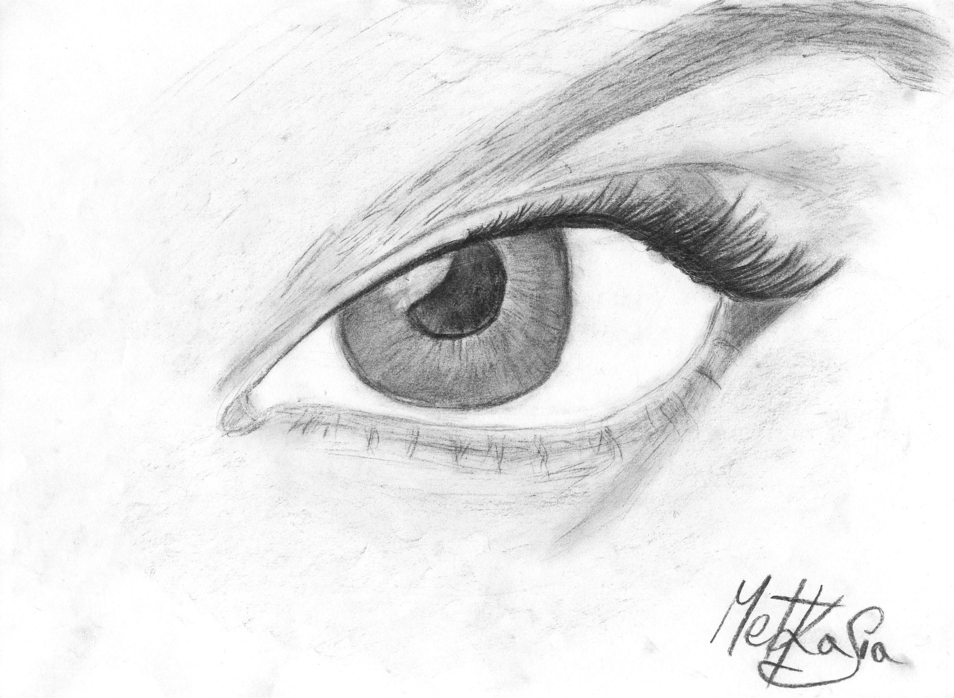 Eye - charcoal drawing