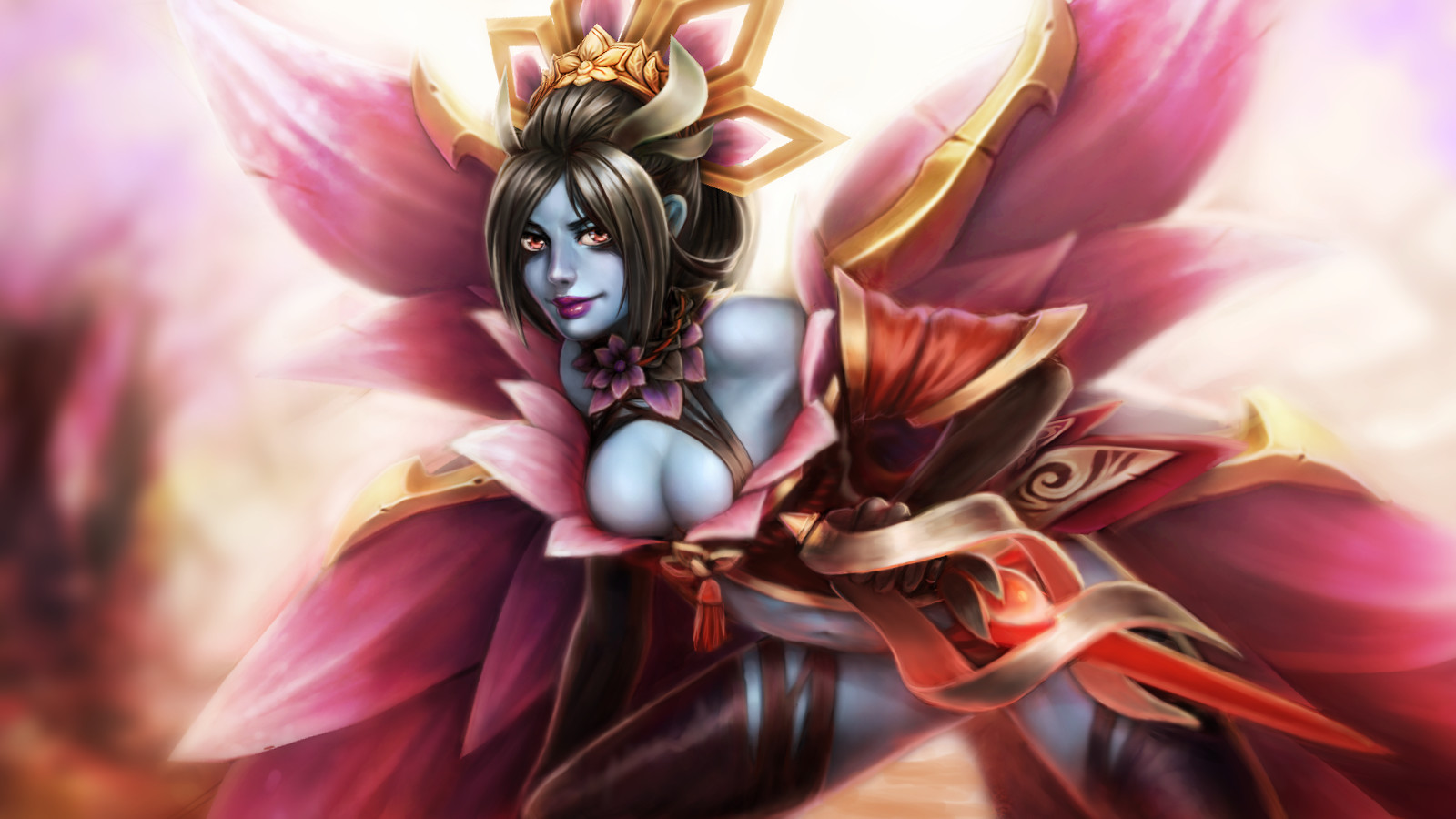 Artstation Dota 2 Queen Of Pain Flower Queen Narongdej Teo