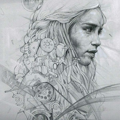 Dot line surface art studio mother of dragons