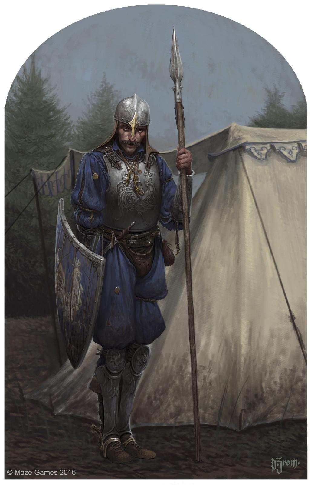Bastons card illustration
