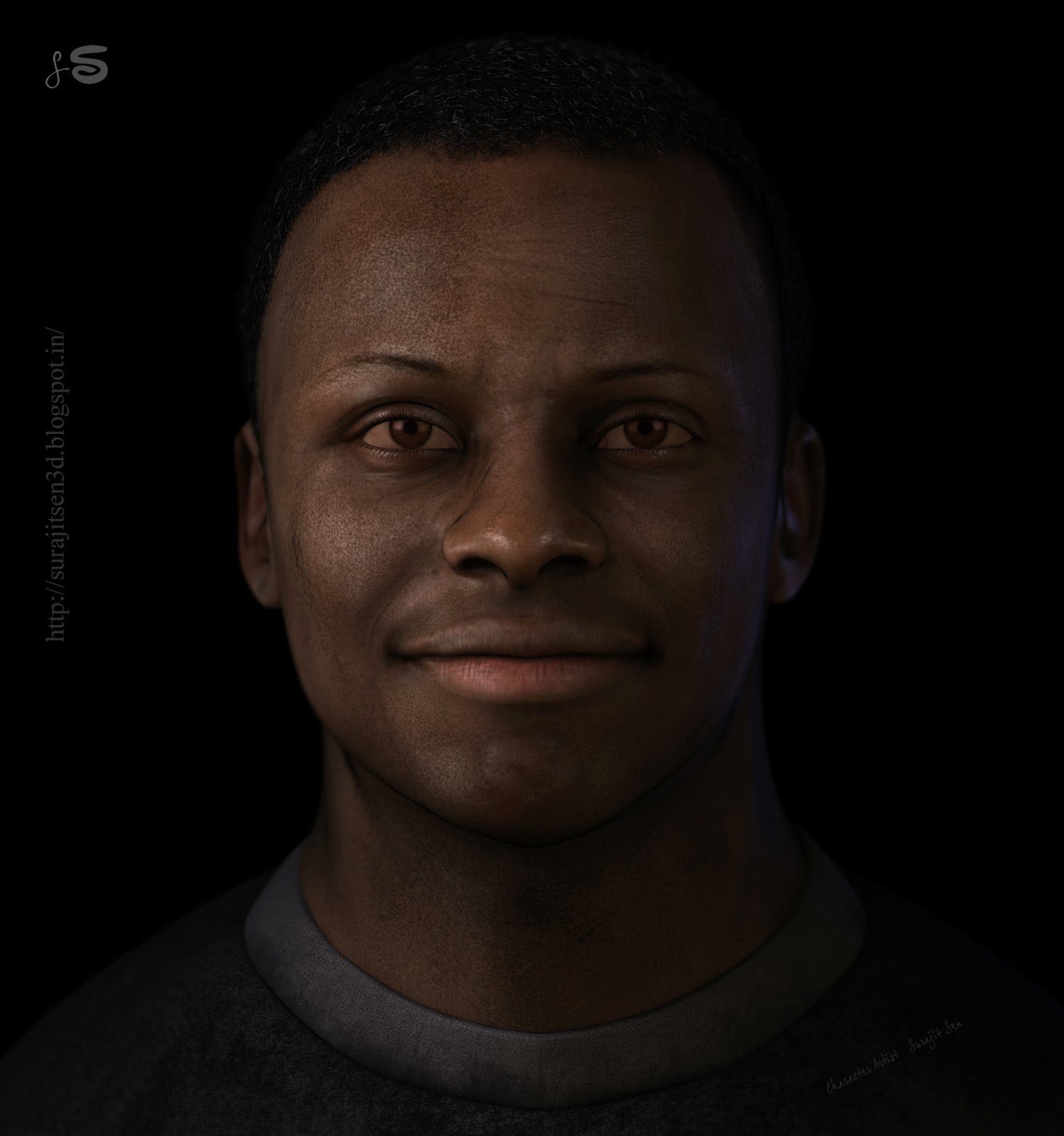 NUBIA_ Cinematic Character _ A real-time portrait _By Surajit Sen