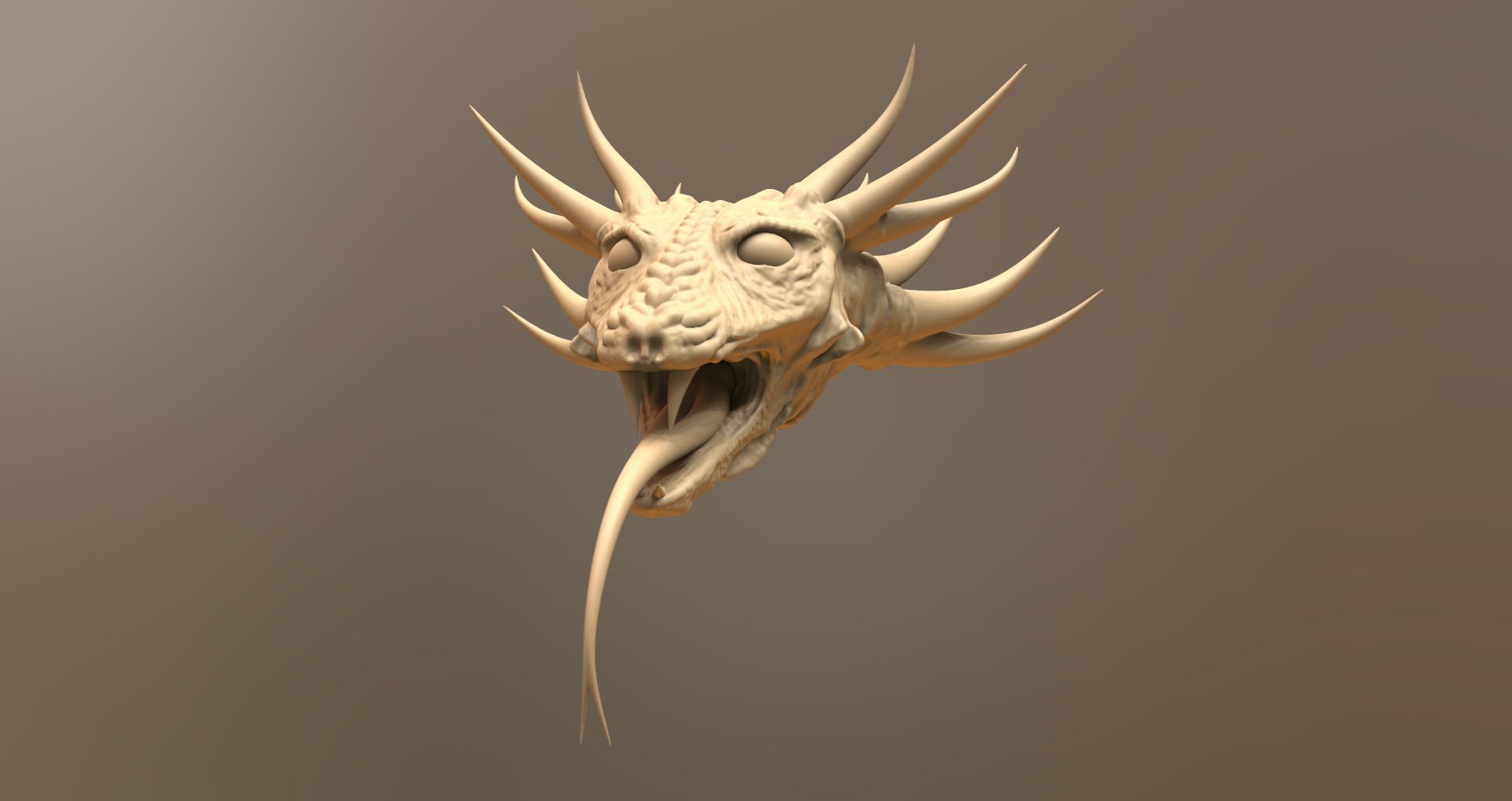 Original Hydra Head in 3D-Coat.
