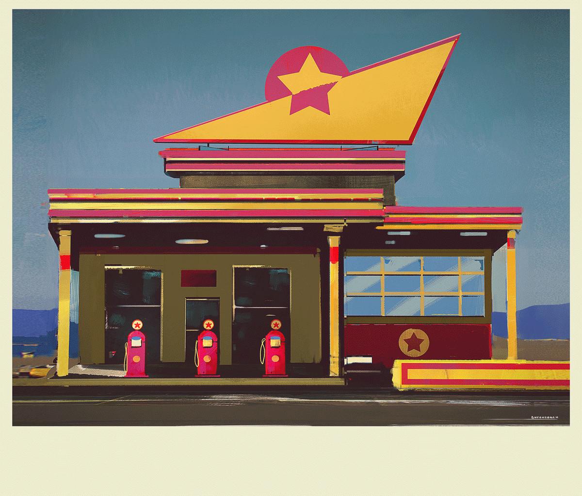 Jorge gonzalez gas station sketch