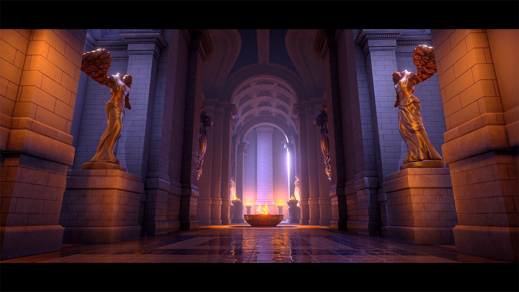 Anngelica parent hallway textured & Anngelica Parent - UE4 Lighting Study - Sun Temple azcodes.com