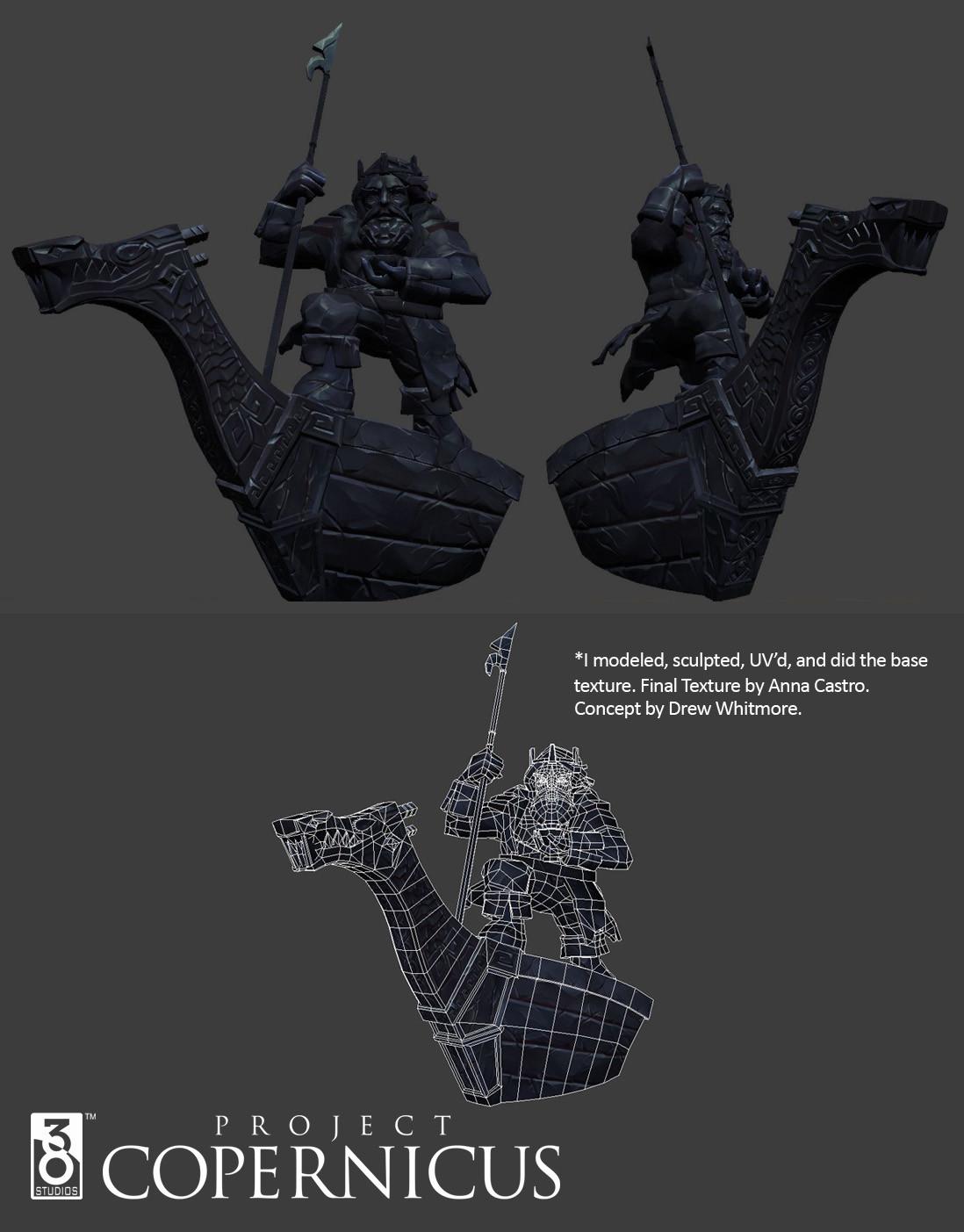 Brent ladue copernicus king maht statue