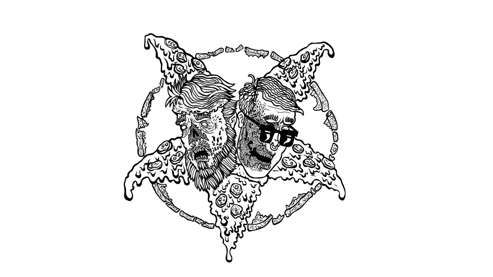 Satanist pizza - TDRS