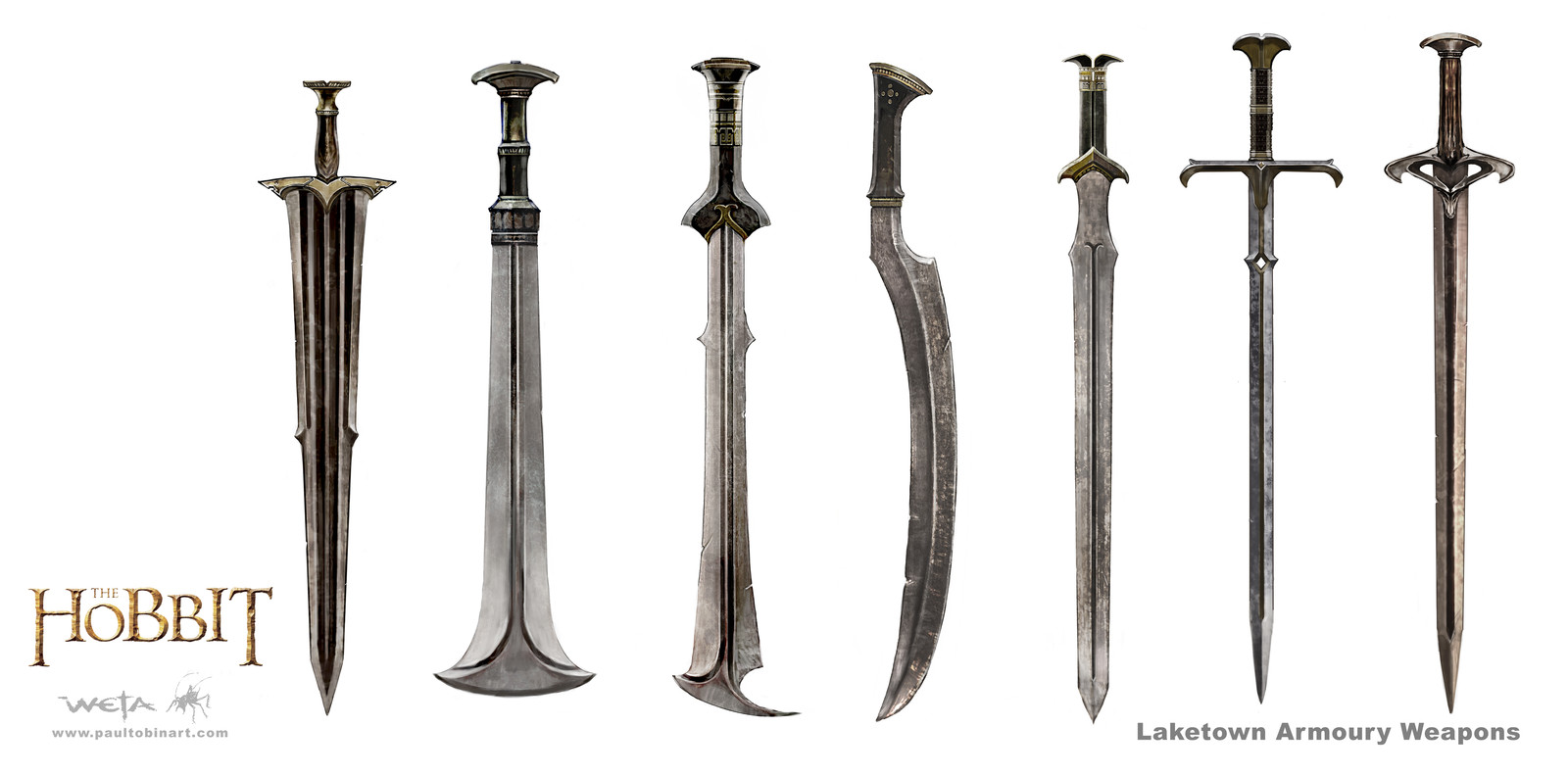 Laketown Weapons used by Dwarven Party
