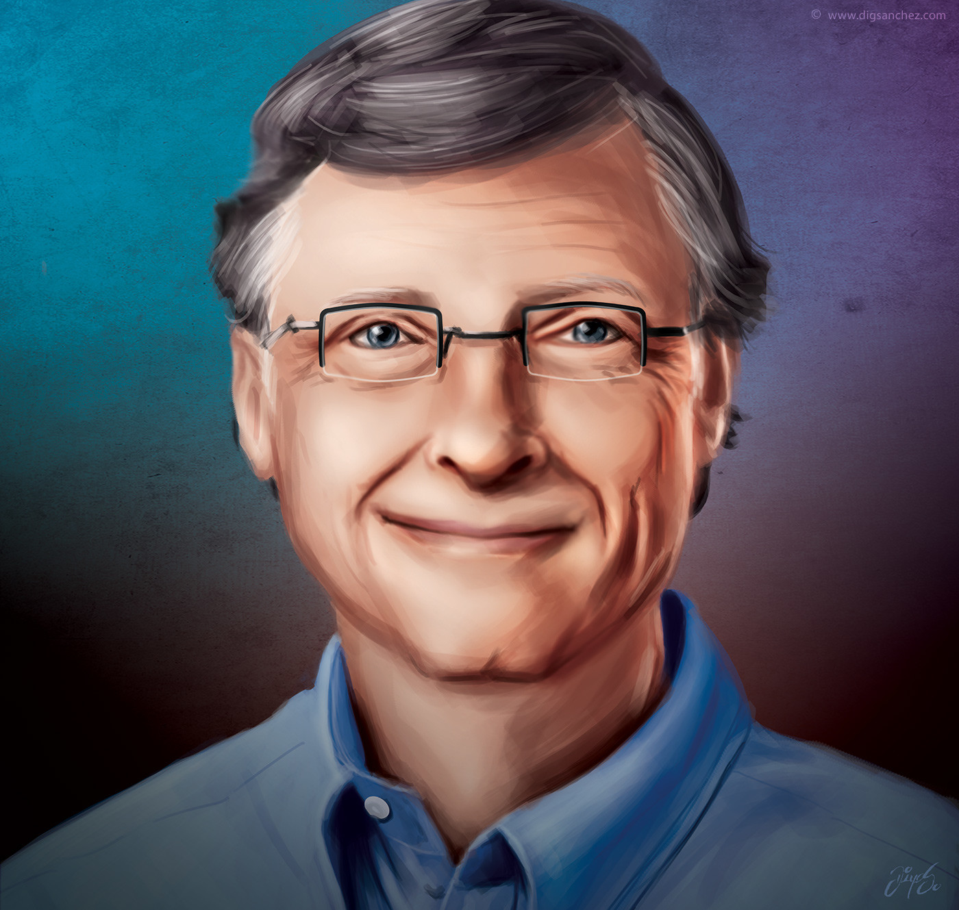 Card character - Bill Gates