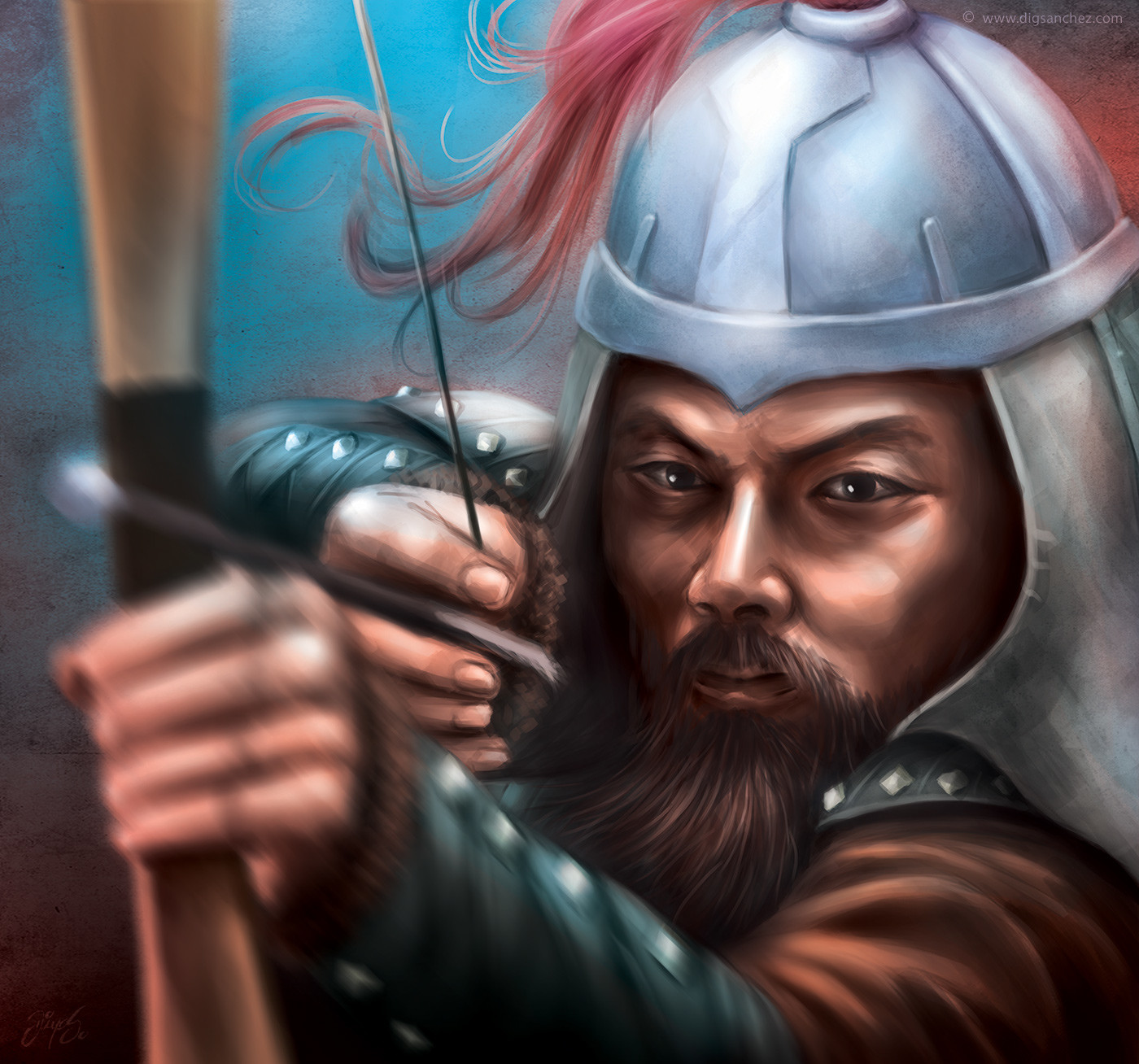 Card character - Genghis Khan