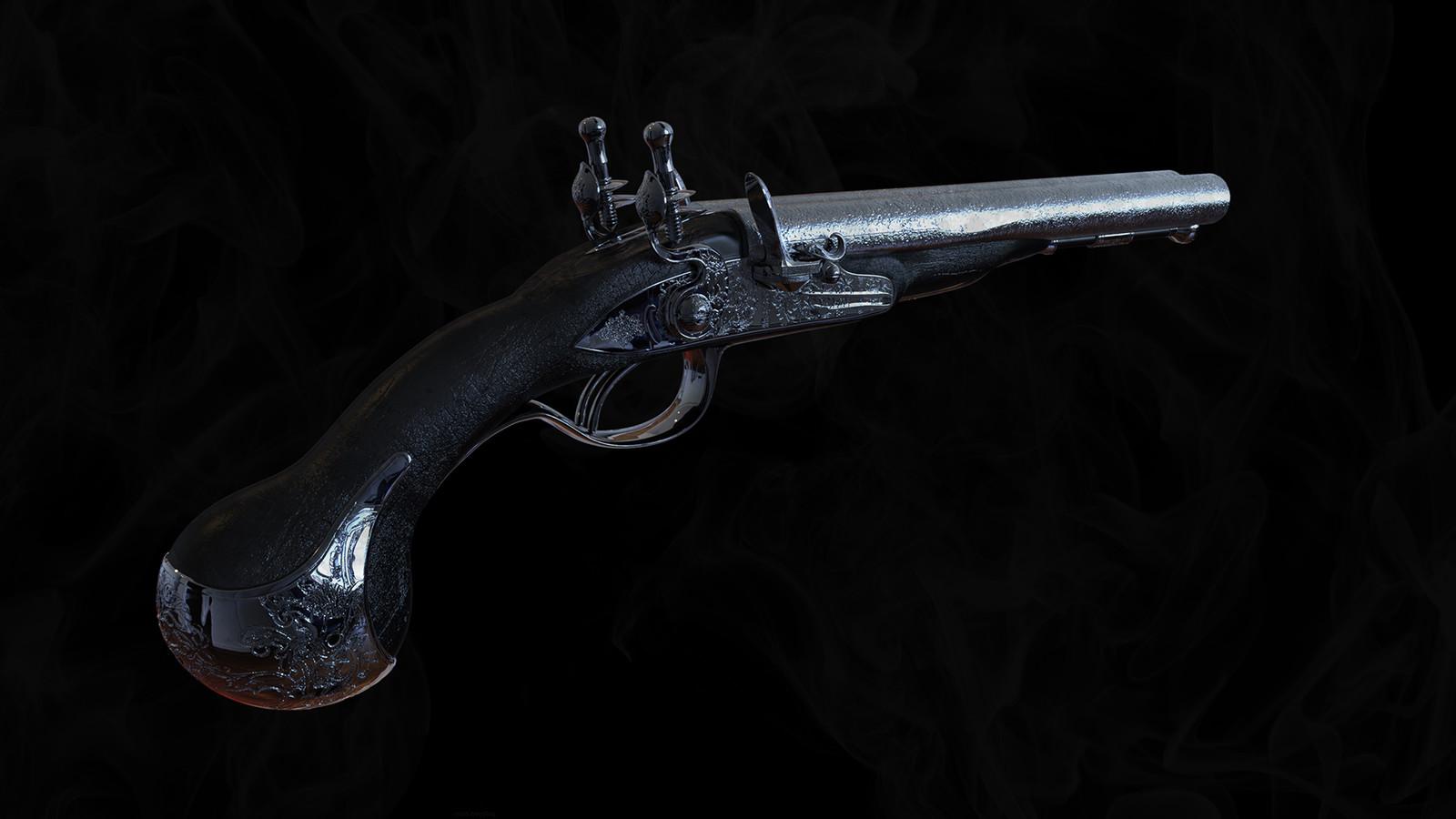Flint gun - study