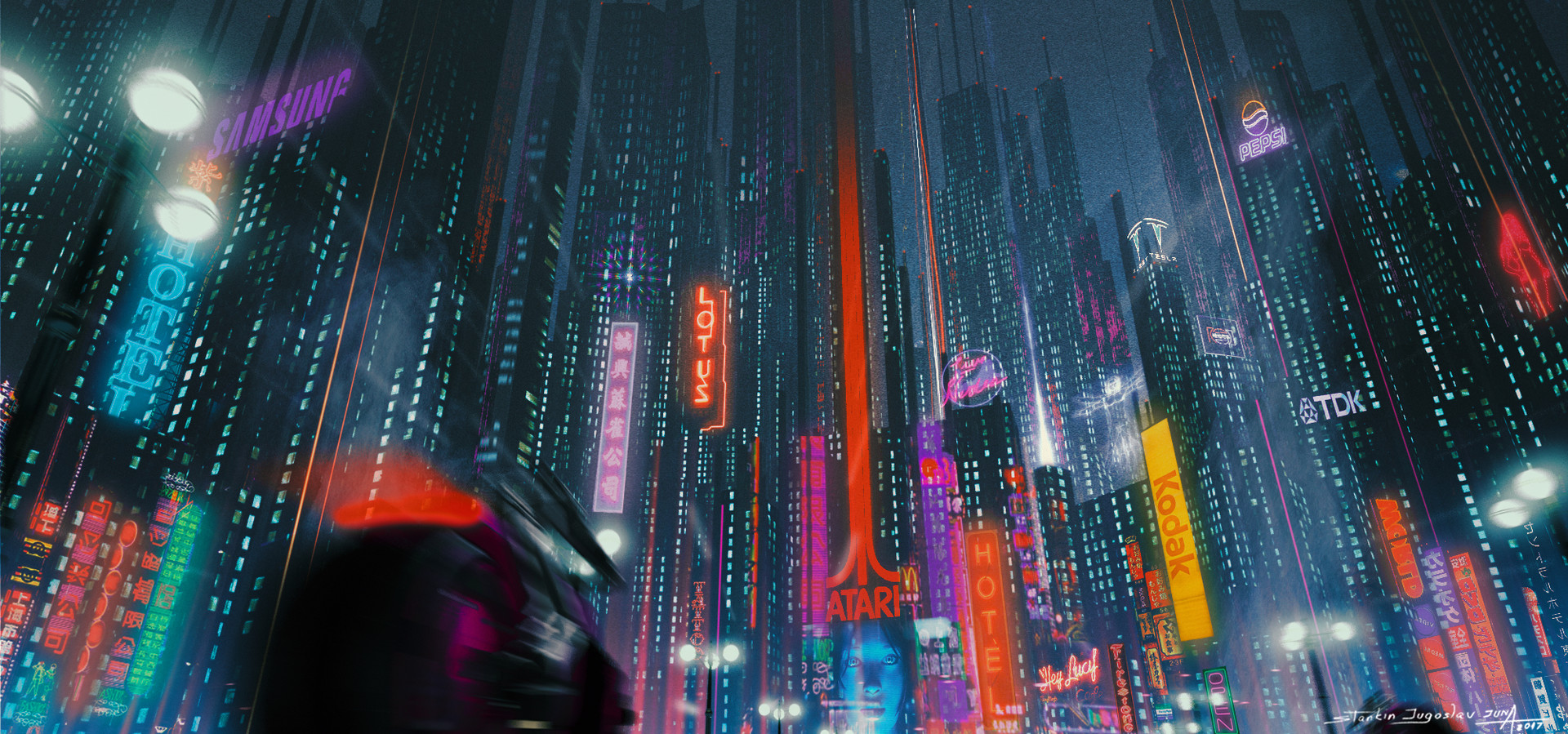 New retro wave-ish city