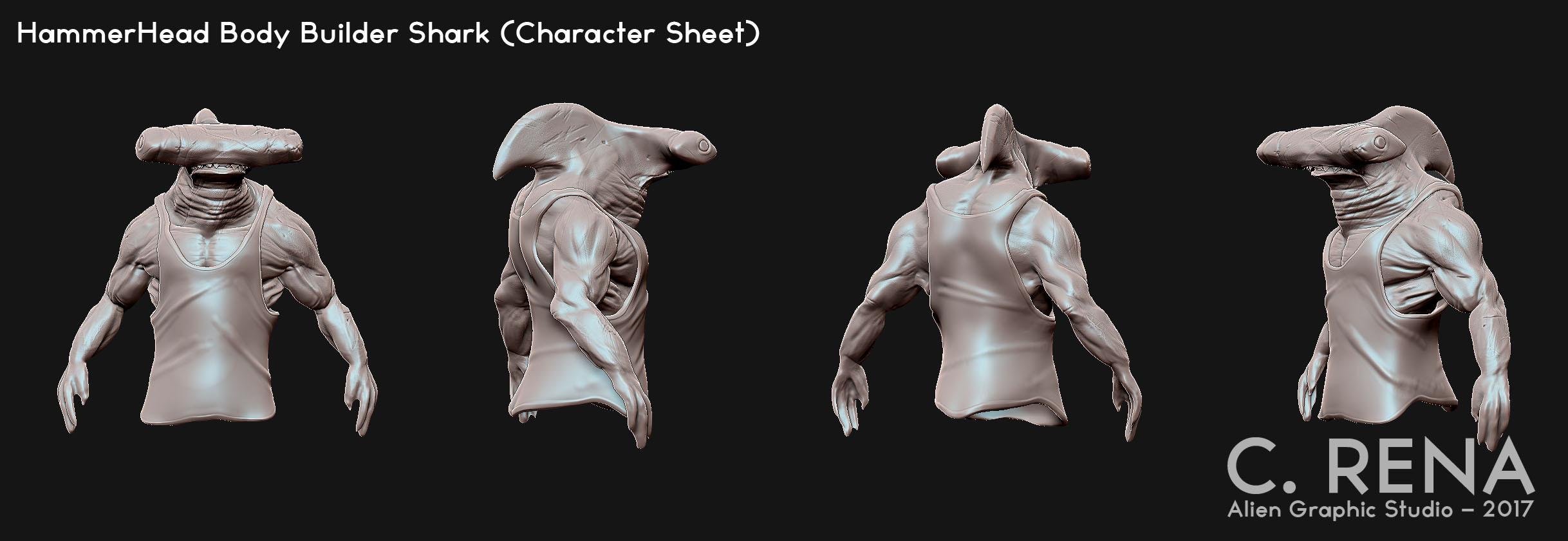 Character study ZBrush