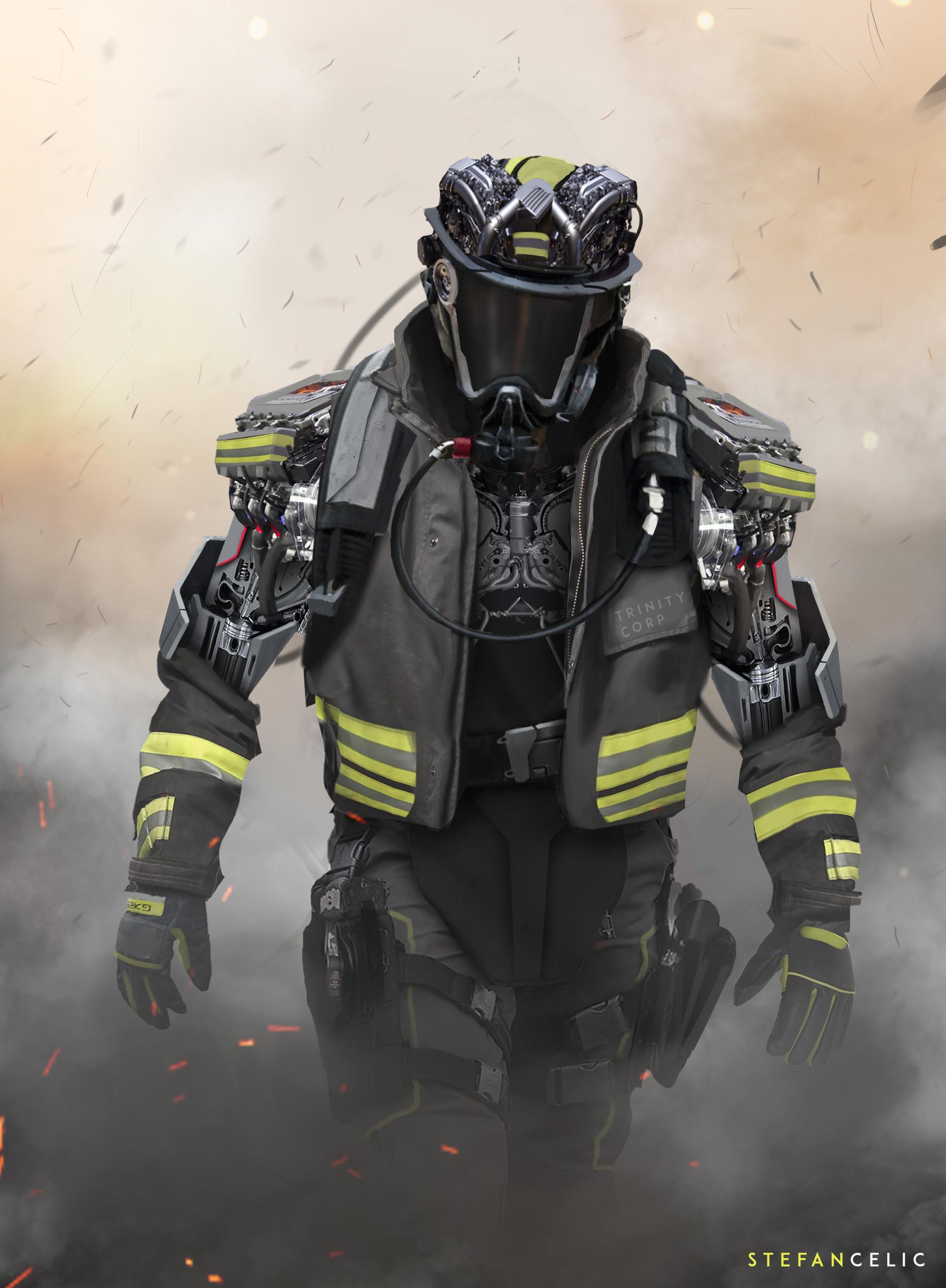 Artstation Mech Firefighter Stefan Celic