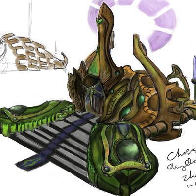 Chris qing qing zhao concept sketch zeratul monument