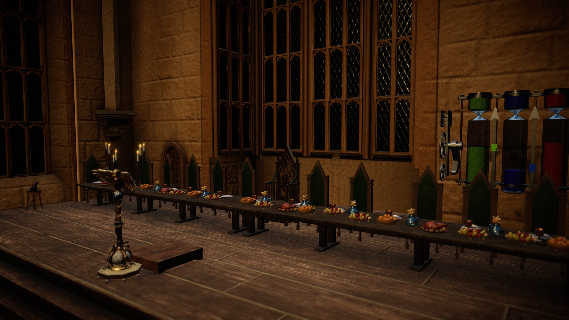 Artstation Harry Potter Hogwarts Great Hall Sketchfab