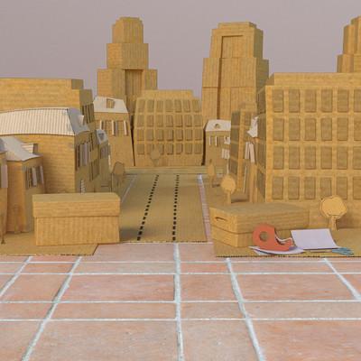 Basile arquis basile arquis cardboard city 01