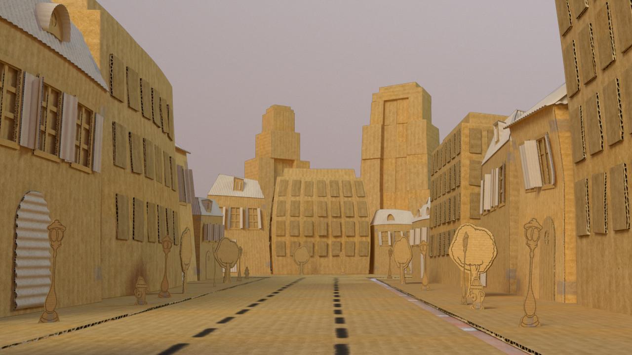 Basile arquis basile arquis cardboard city 02