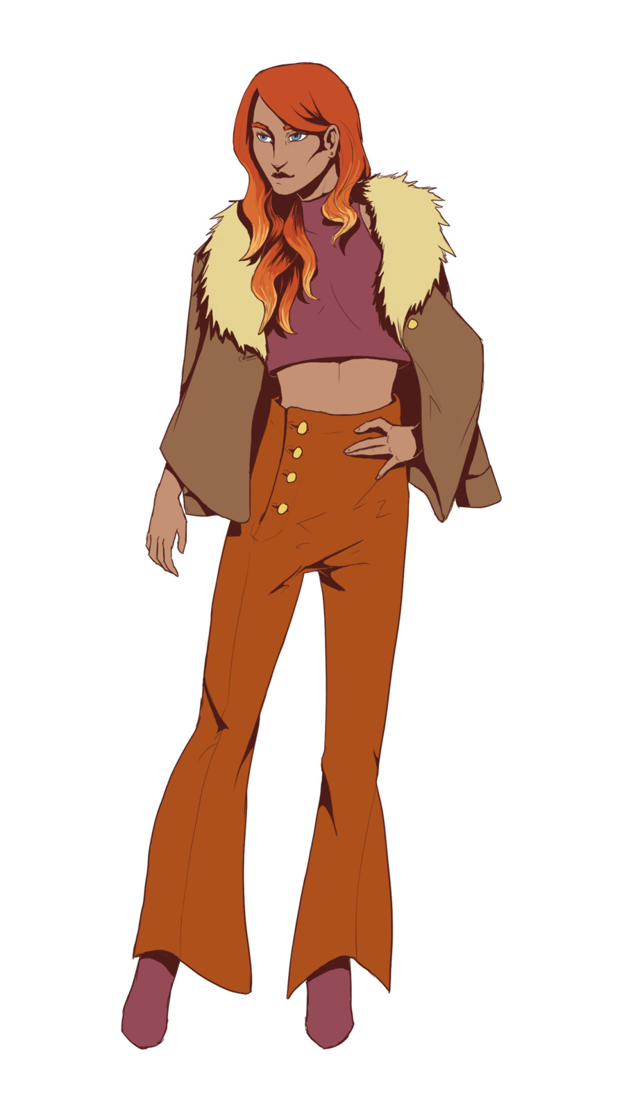 Design for Evangeline, an aspiring fashion designer who died young in the 70's