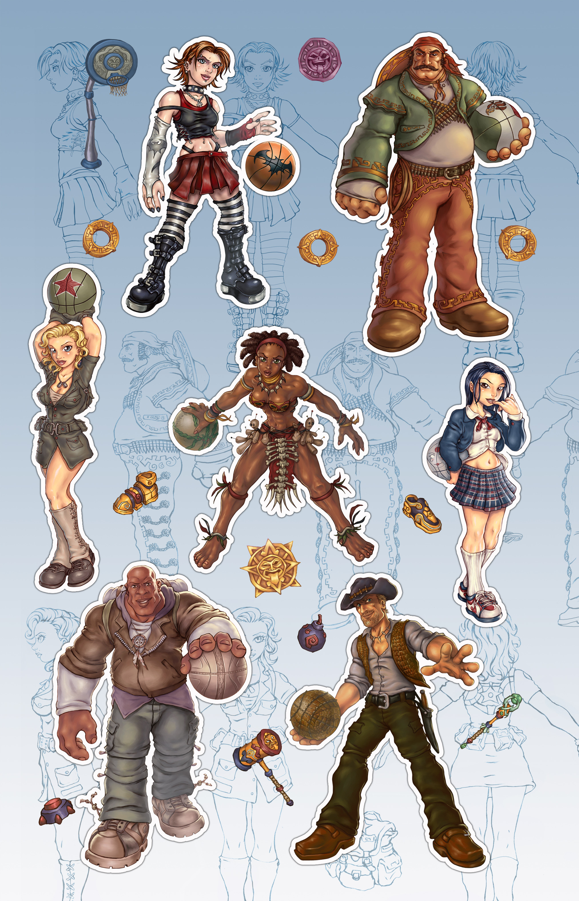 Asorted character designs