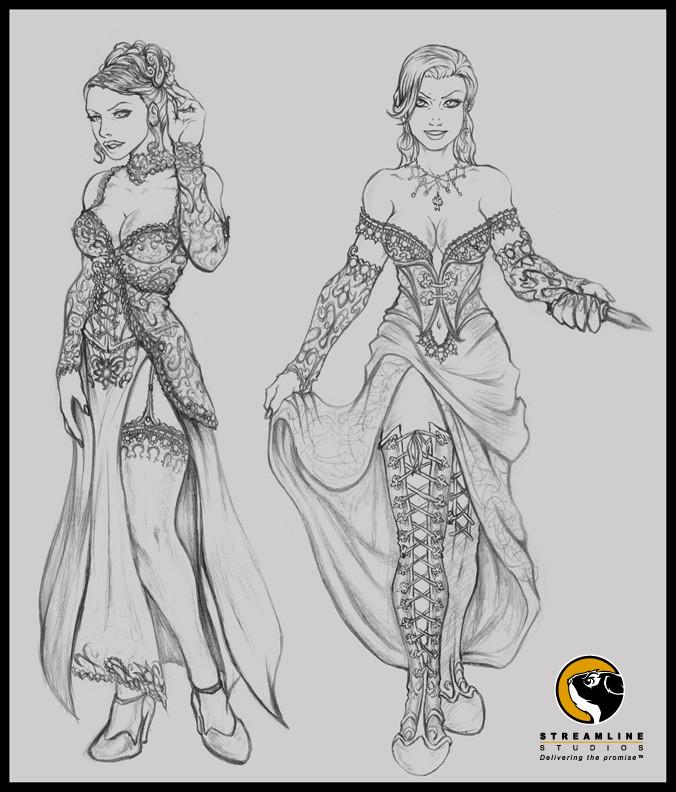 Velvet sketches