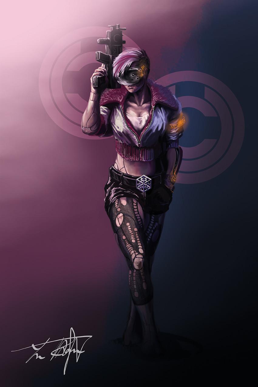 Yun nam cyberpunk character 2b 72
