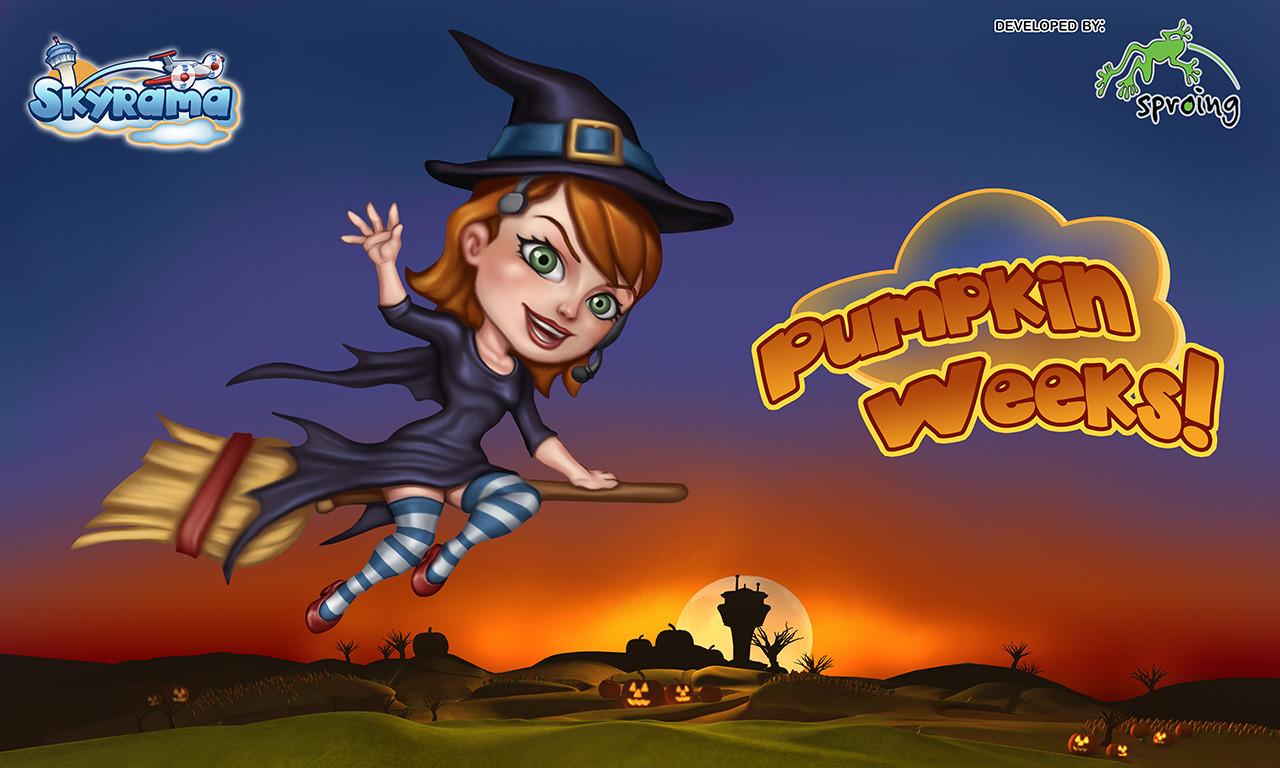 Halloween event screen