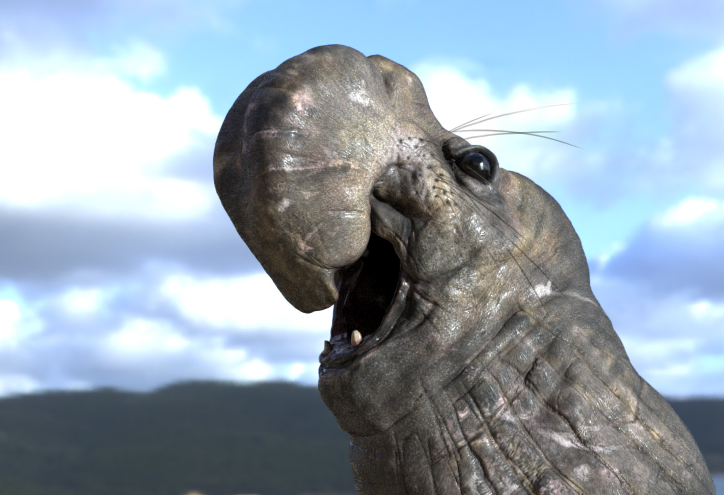 elephant Seal model renered in iRay/Substance Painter
