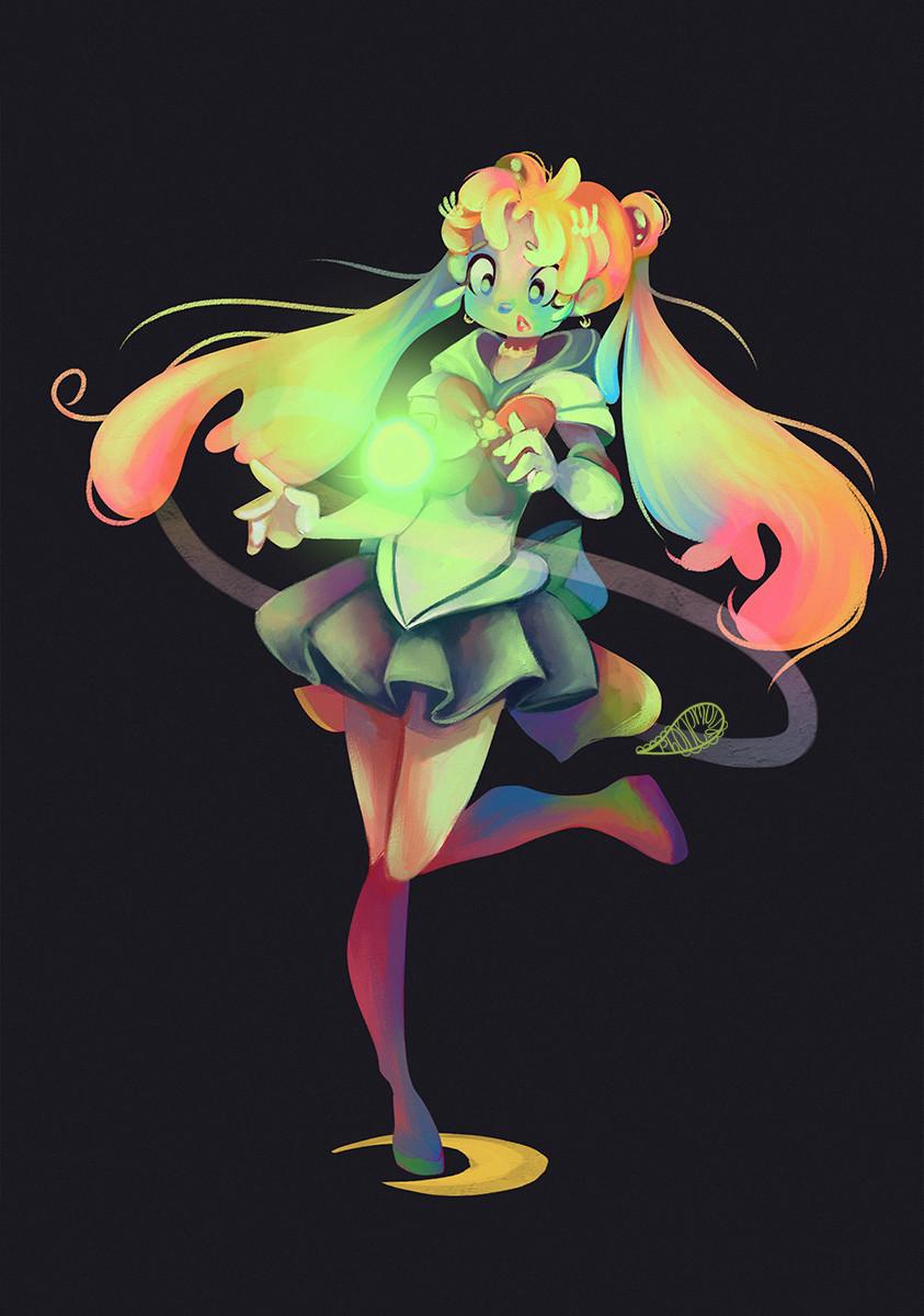Rainbow-ish Sailor Moon