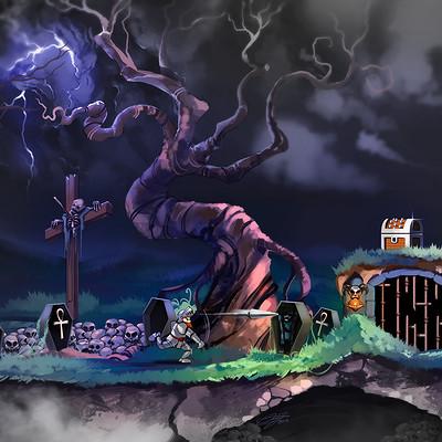 Daniel bogni super ghouls n ghosts fanart by danielbogni damzxqm