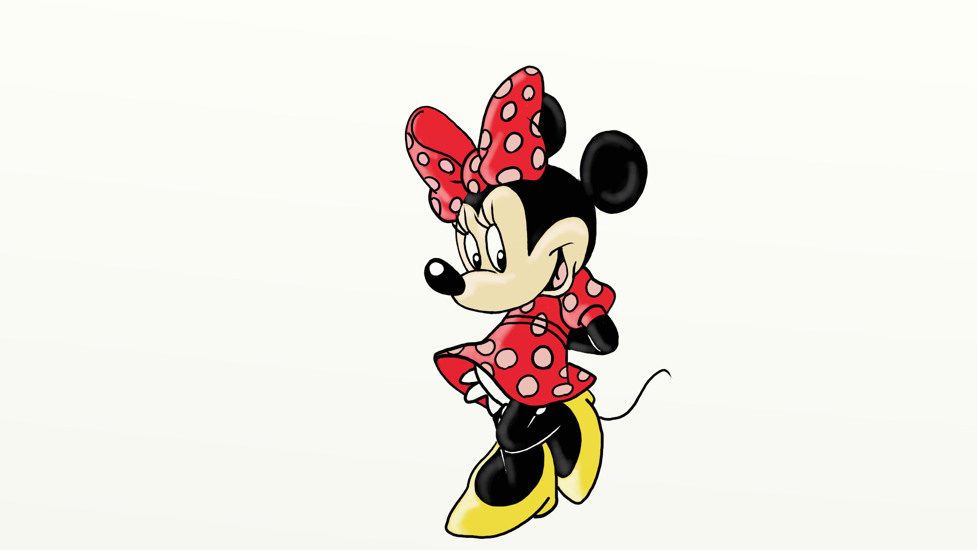 Drawing minnie mouse
