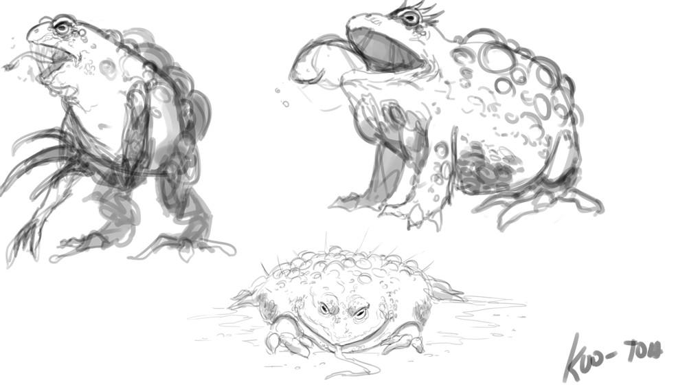Michael rookard bestiary kuotoa sketches