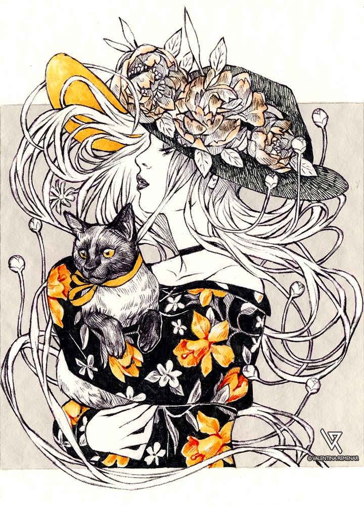 Valentina remenar inktober garden witch