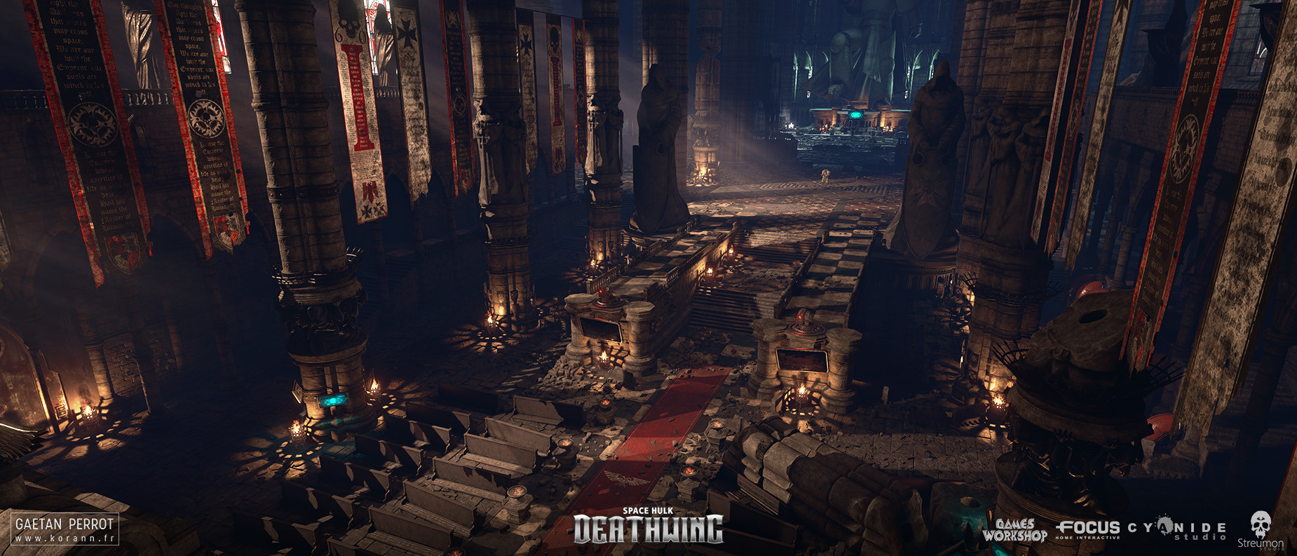 ArtStation - Space Hulk Deathwing - Black Templar Cathedral 01