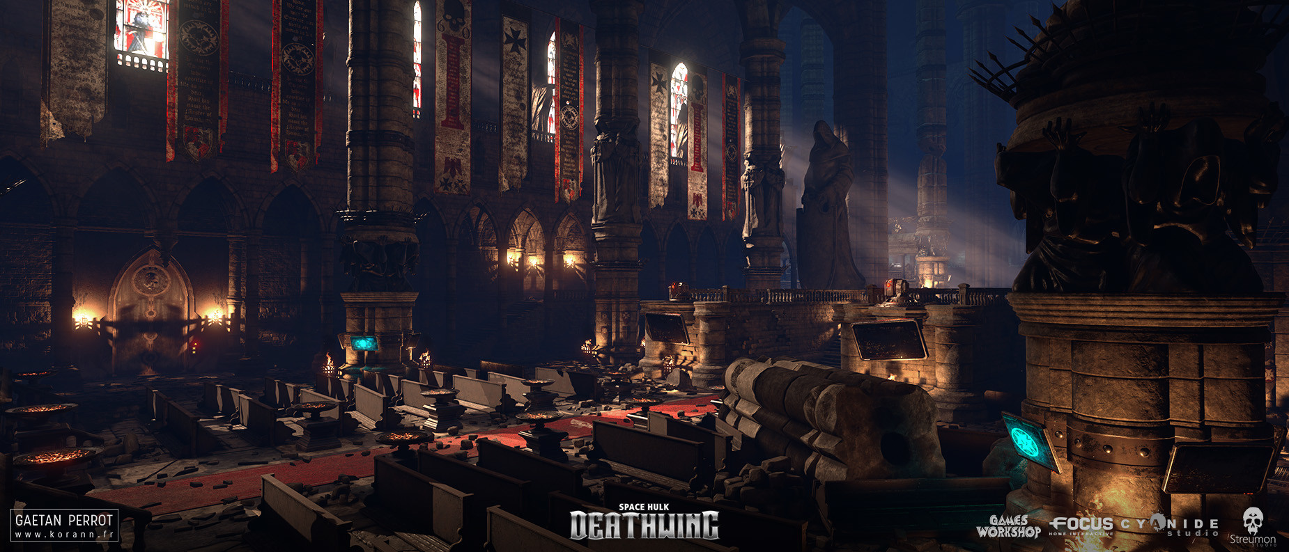 ArtStation - Space Hulk Deathwing - Black Templar Cathedral 02