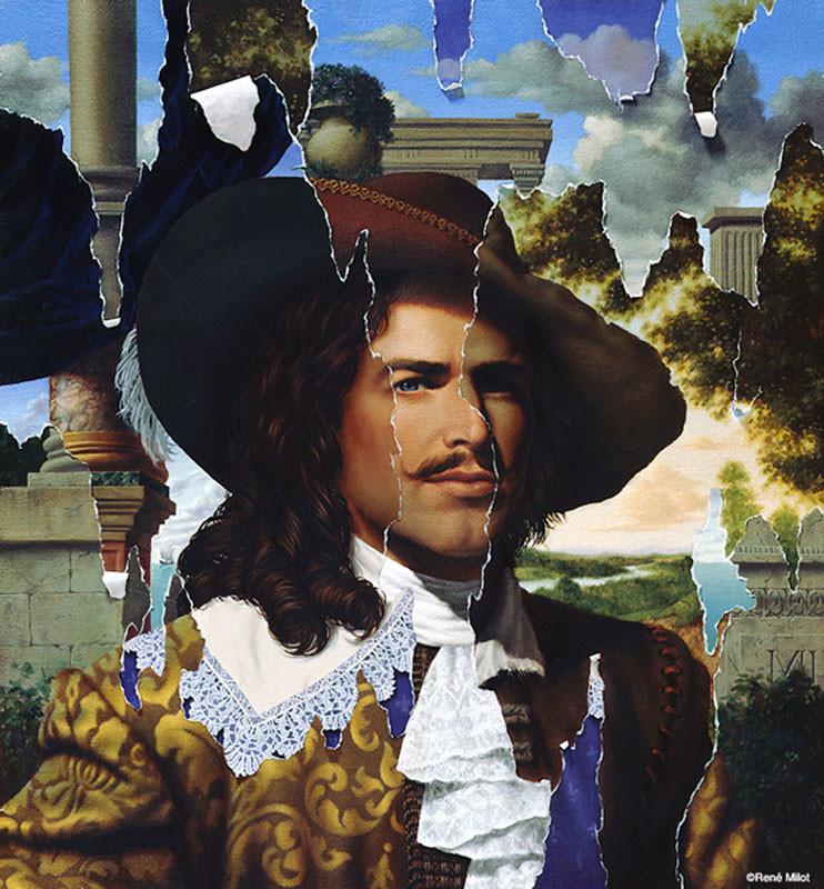 Rene milot illusions baroque man painting milot art
