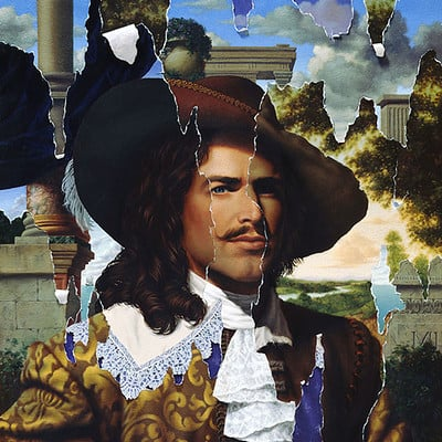 Rene milot illusions baroque man painting milot art