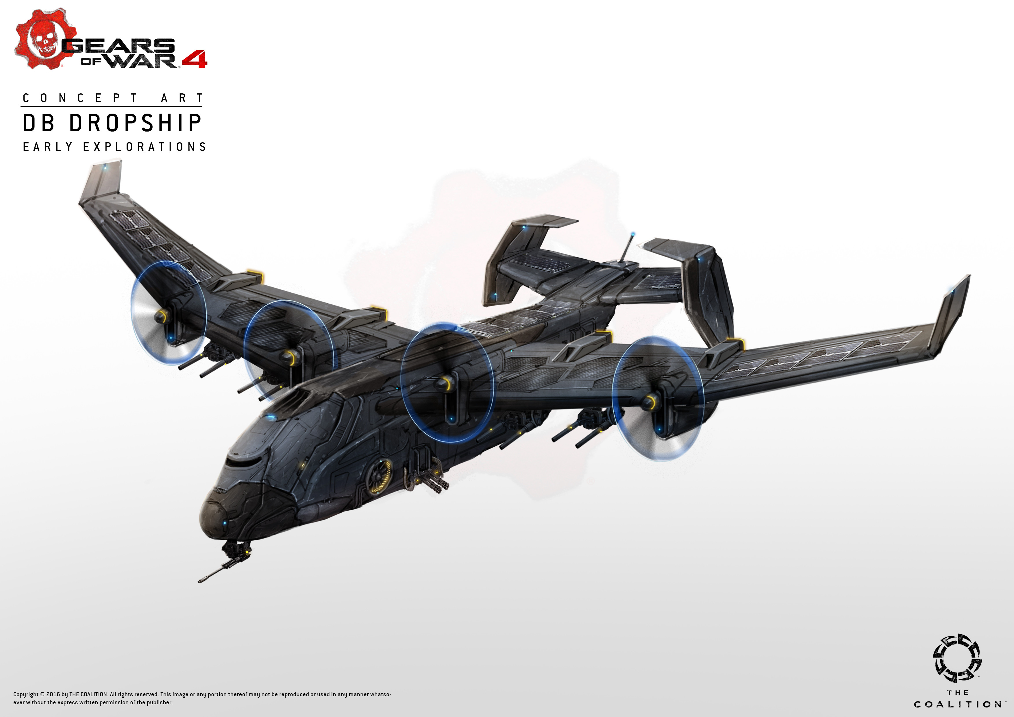 Early explorations for the vulture dropship, i think they went on to model this right away after some internal tweaks