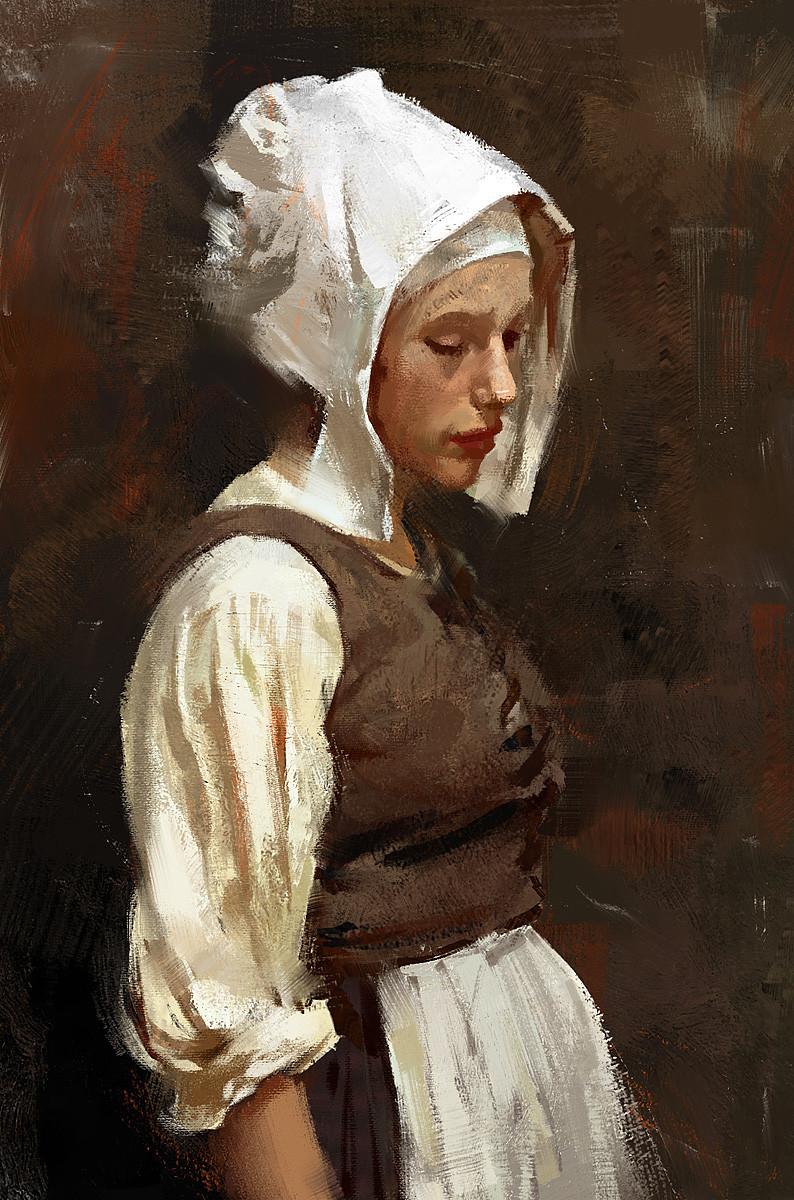 Grzegorz rutkowski girl with pearl earring study 1200