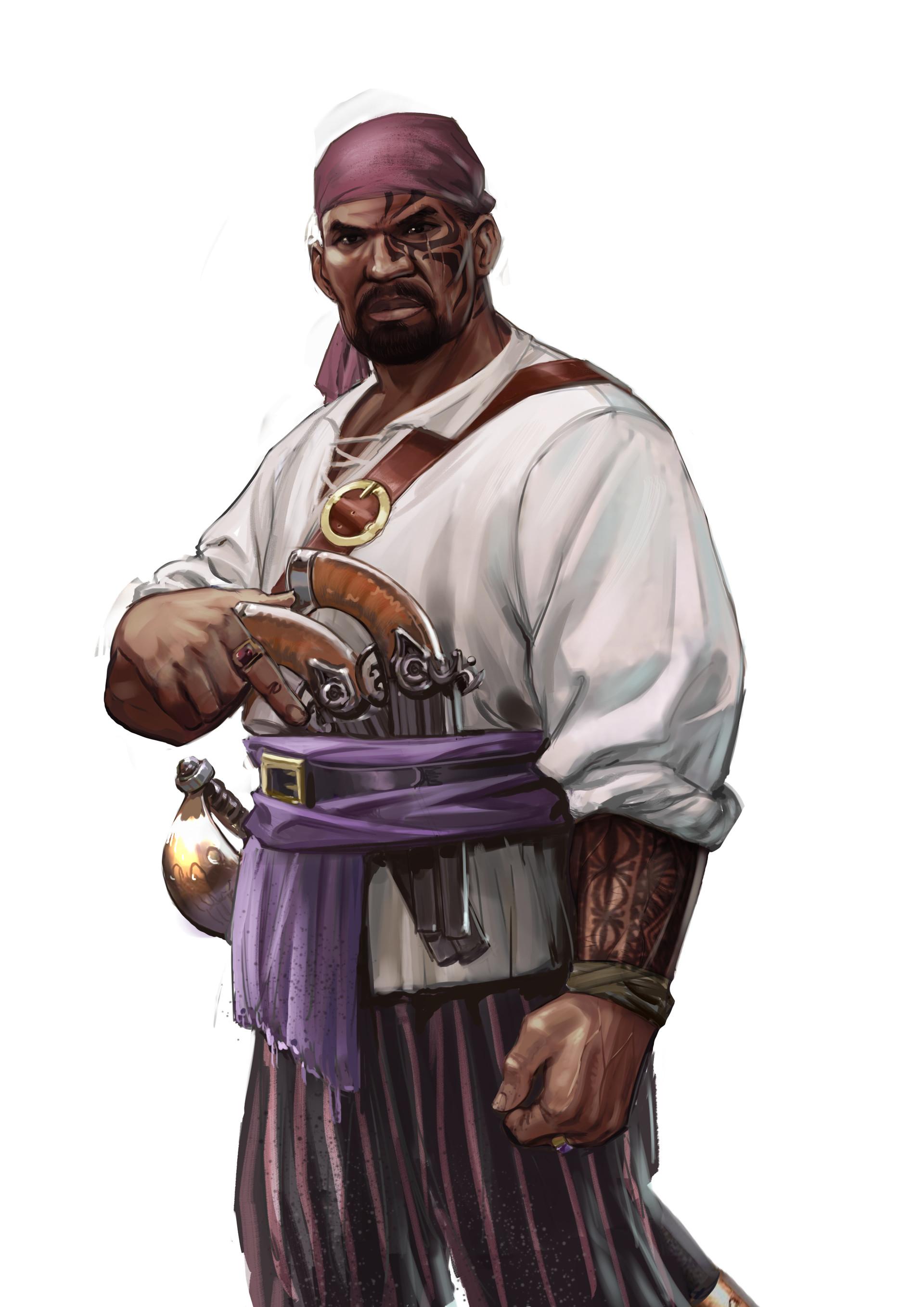 Pierre santamaria pirate black 04 white