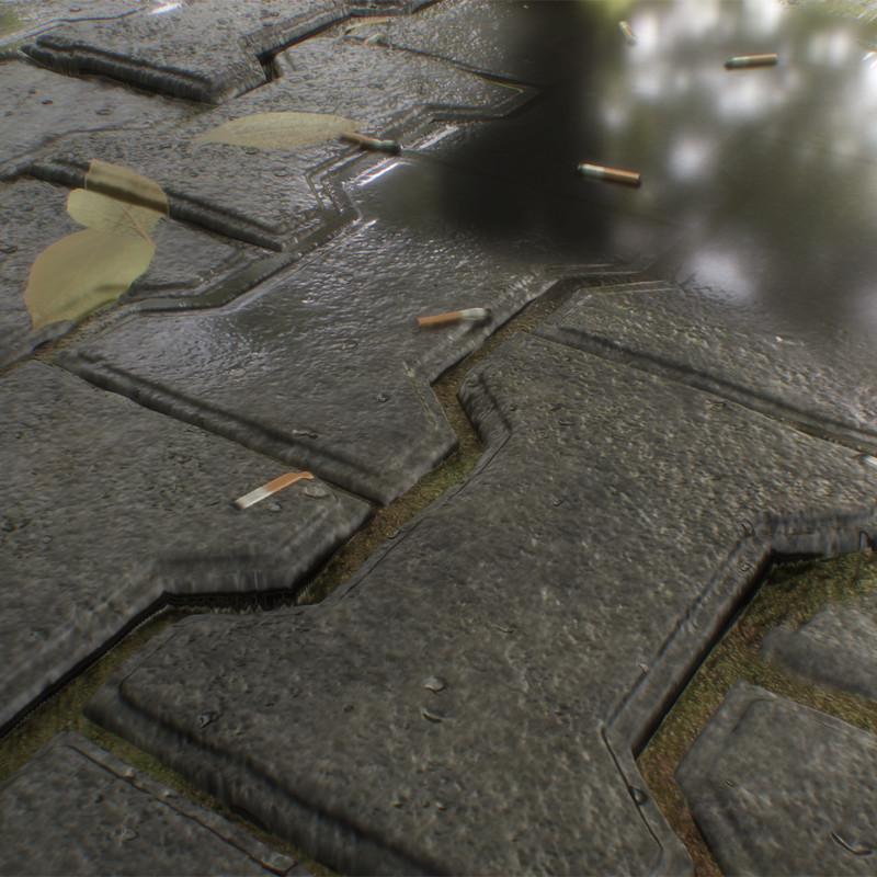 Wet Pavement Road