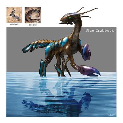 Midhat kapetanovic random creature mashup 006 blue crabbuck