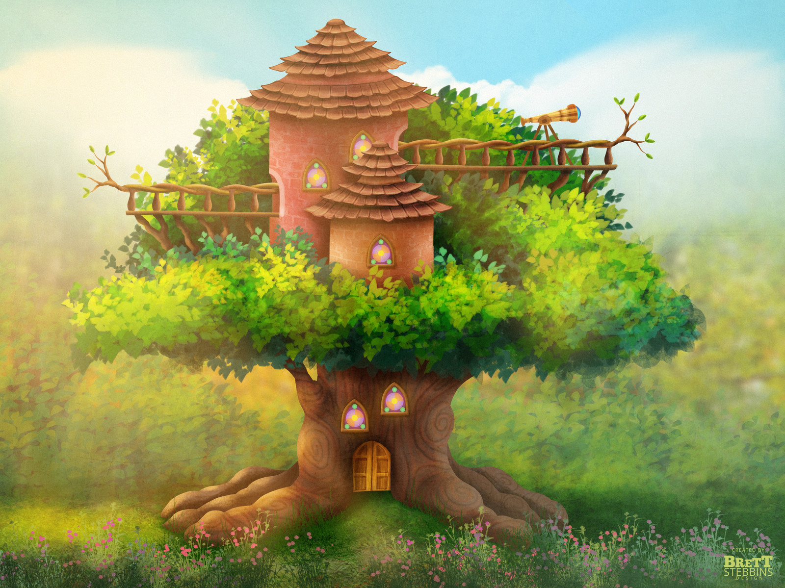 Big Lookout Tree Concept Art