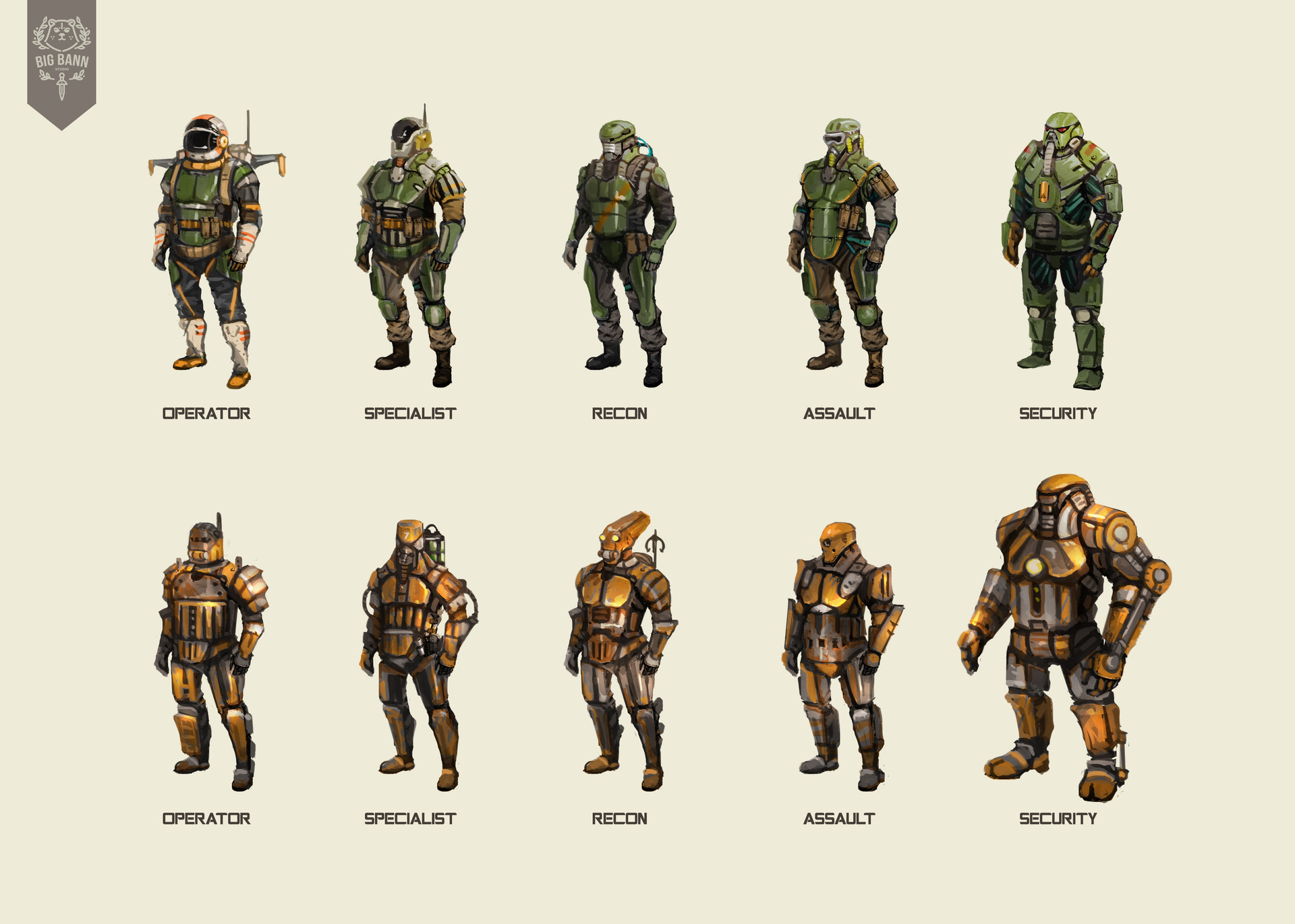 Fallout 4 Character Design Tutorial : Artstation power armor troops albani putra rianto