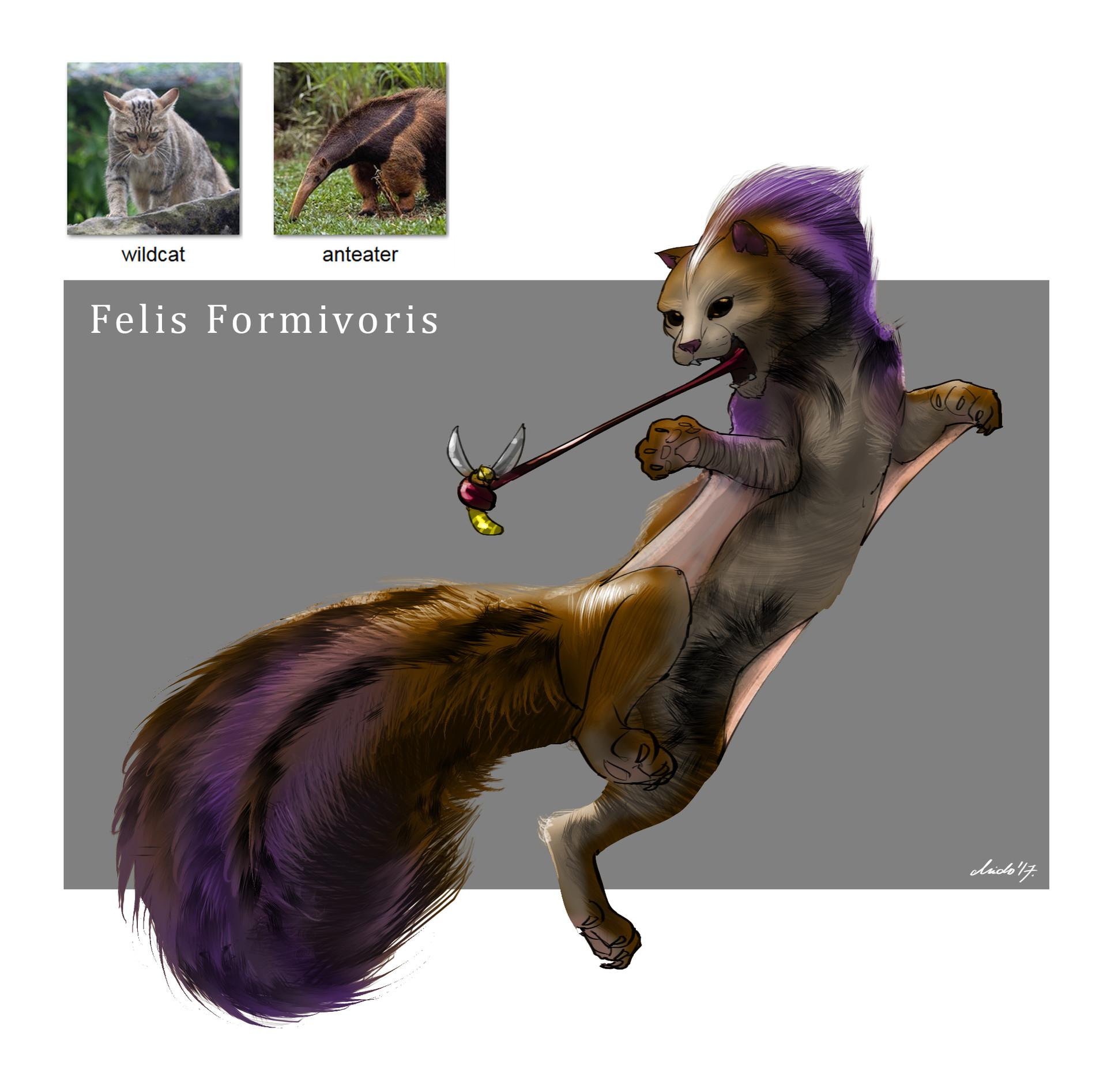 Midhat kapetanovic random creature mashup 007 felis formivoris